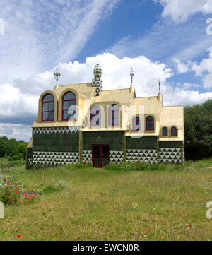 Fantasy holiday cottage in Wrabness Overlooking The River Orwell designed by Grayson Perry and FAT Architecture. - Stock Image