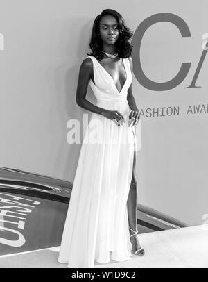 New York, NY - June 03, 2019: Riley Montana attends 2019 CFDA Fashion Awards at Brooklyn Museum - Stock Image