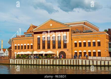 Polska Filharmonia Baltycka im. Fryderyka Chopina, Philharmonic Hall, Olowianka, Gdansk, Poland - Stock Image