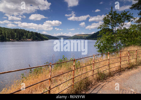 Lake Vyrnwy reservoir in Powys, Wales on a sunny day - Stock Image
