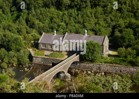 Caban Coach Turbine House Elan Valley Powys Wales UK - Stock Image