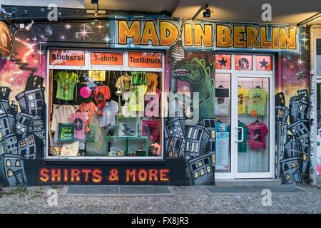 Fashion Store, Mad in Berlin, Friedrichshain, Berlin - Stock Image