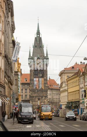 Czech Republic, Prague. Belltower Church in New Town. Credit as: Wendy Kaveney / Jaynes Gallery / DanitaDelimont.com - Stock Image