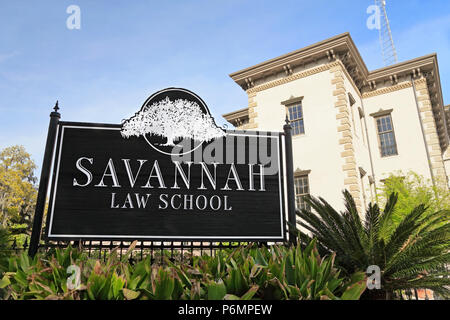 Savannah Law school, Savannah, Georgia. - Stock Image