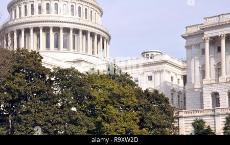 View of US Capitol Dome and US Senate, Washington DC - Stock Image