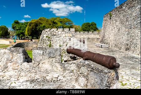 San Felipe Fort in Bacalar, Mexico - Stock Image