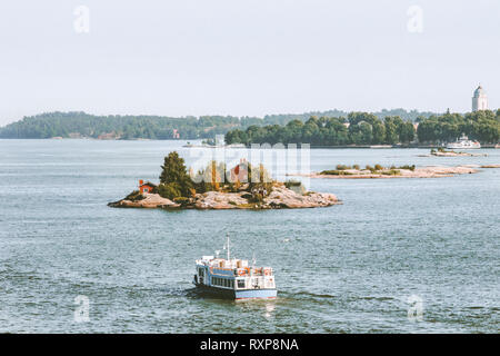 Cruise ship sailing in Baltic sea passenger transportation scandinavian vacations outdoor - Stock Image