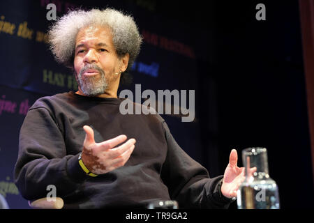Hay Festival, Hay on Wye, Powys, Wales, UK - Friday 31st May 2019 - Albert Woodfox on stage at the Hay Festival talking about his book Solitary which tells of his many decades in solitary confinement for a crime he did not commit. The eleven day Festival features over 800 events - the Hay Festival continues to Sunday 2nd June. Photo Steven May / Alamy Live News - Stock Image