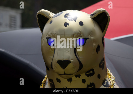 Inflatable Puma at a Puma sportswear stand  during the Mt Sac relays in Walnut California - Stock Image