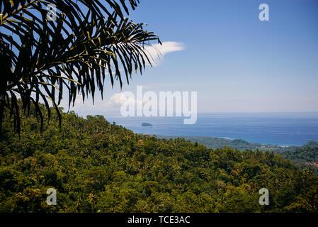 Coastal landscape view, Bali, Indonesia - Stock Image