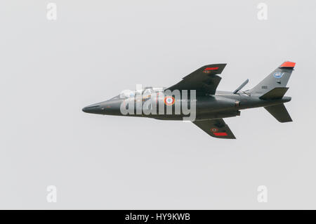 The Dassault/Dornier Alpha Jet is a light attack jet and advanced trainer aircraft co-manufactured by Dassault Aviation - Stock Image