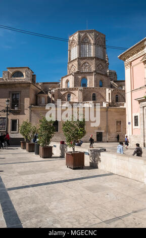 Plaza Decimo Junio Bruto, part of the old historical city centre in North Ciutat Vella district, Valencia, Spain. - Stock Image