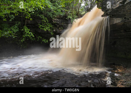 Summerhill Force and Gibson's Cave, Teesdale, County Durham, UK. - Stock Image