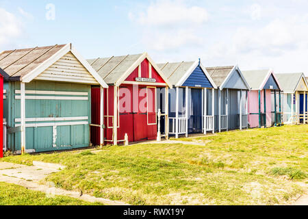 Sutton on Sea Lincolnshire UK England, Sutton On Sea, Lincolnshire, UK. 04th Mar, 2019. UK Weather: 04/03/19 Bright, sunny but very windy day sand dun - Stock Image