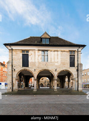 The Peterborough Guildhall, also called the Old Guild Hall, is a Grade II listed building in Market Square, Peterborough, - Stock Image