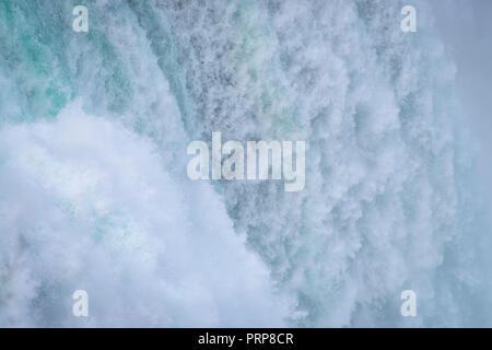 Detail Close Up Of Waterfall, Niagara Falls, New York, USA - Stock Image