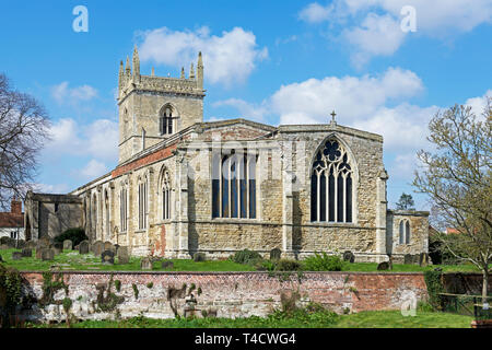 St Mary's Church, Barton upon Humber, North Lincolnshire, England UK - Stock Image