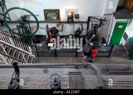 Claverton Pumping Station on the Kennet and Avon Canal near Bath - Stock Image