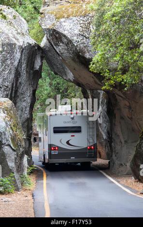 Entering Yosemite National Park, California, USA - Stock Image