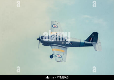 Percival Provost (Piston Provost) XF836, former Royal Air Force trainer aircraft at Shuttleworth Collection air show, Old Warden aerodrome, Bedfordshire, England, July 1982, no longer airworthy - Stock Image