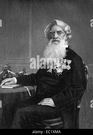 Samuel Finley Breese Morse (1791-1872) on engraving from 1873. American painter and inventor. - Stock Image