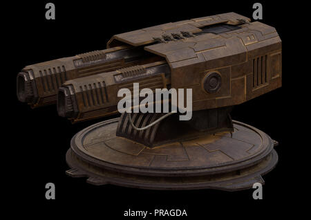 Large Science Fiction Gun Turret - Stock Image
