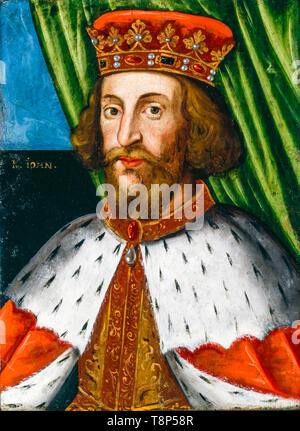 King John (1166-1216), portrait painting by the British School, before 1626 - Stock Image