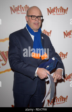 Celebrities attend 'Nativity! The Musical' Press Night held at the Hammersmith Apollo theatre  Featuring: Harry Hill Where: London, United Kingdom When: 20 Dec 2018 Credit: WENN.com - Stock Image