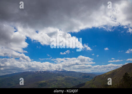 The mountains of the Central Apennines in Italy - Stock Image