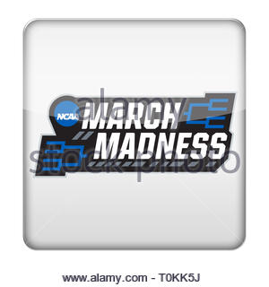 March Madness NCAA logo symbol - Stock Image