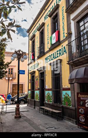 La Piqueria Mezcaleria in the state capital of San Luis Potosi, Mexico. - Stock Image