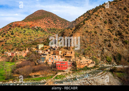Ourika valley, Province Al Haouz, High Atlas, Morocco - Stock Image