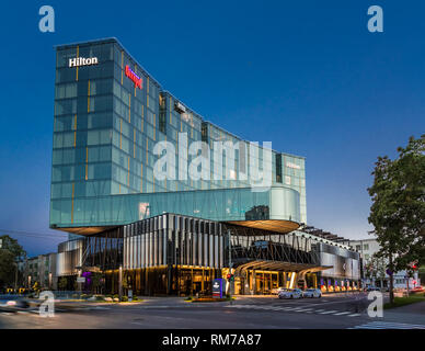 Hilton Park Hotel Tallinn. architect Meelis Press, interiors Vertti Kivi, Merko construction company - Stock Image
