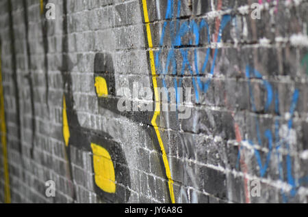 The writing is on the wall - Stock Image