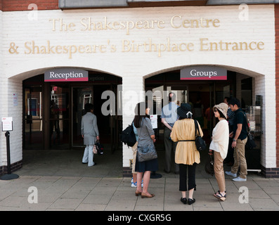 The Shakespeare Centre birthplace entrance of William Shakespeare in Stratford upon Avon - Stock Image