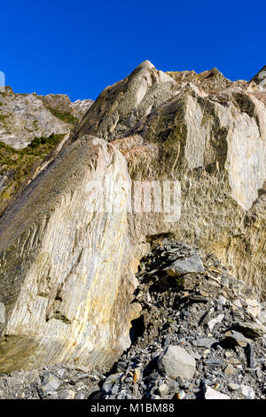 Franz Josef Glacier Walk – rock formation - Stock Image
