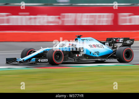 Silverstone Circuit. Northampton, UK. 13th July, 2019. FIA Formula 1 Grand Prix of Britain, Qualification Day; George Russell driving his ROKiT Williams Racing FW42 Credit: Action Plus Sports/Alamy Live News - Stock Image