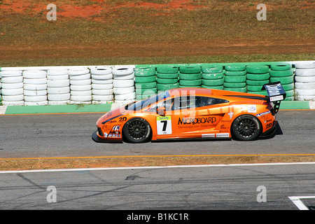 Lamborghini Gallardo, Ingo Hoffmann, GT3 Brazilian Racing Cup, Nelson Piquet Autodrome, Brasilia, Brazil, South - Stock Image