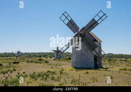 Windmills on Gotland - Stock Image