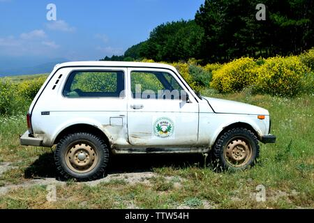 All terrain lada niva -Valley of the Thracian Kings in Kazanlak- Province of Stara Zagora.BULGARIA - Stock Image