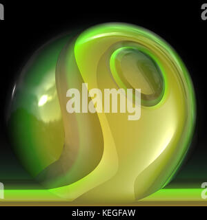 glass blown sphere - Stock Image