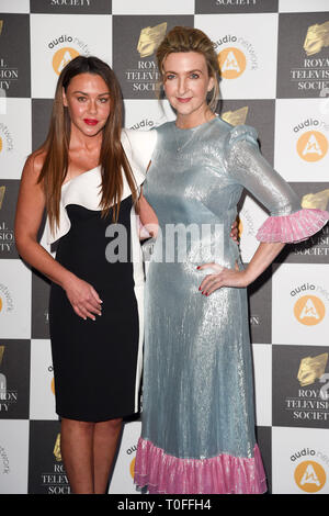 LONDON, UK. March 19, 2019: Michelle Heaton & Victoria Darbyshire arriving for the Royal Television Society Awards 2019 at the Grosvenor House Hotel, London. Picture: Steve Vas/Featureflash Credit: Paul Smith/Alamy Live News - Stock Image