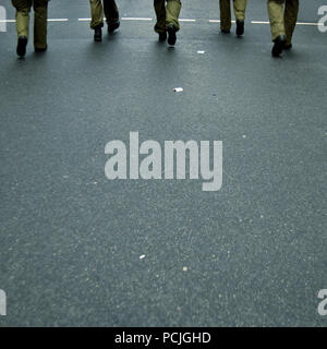 police operation,march - Stock Image