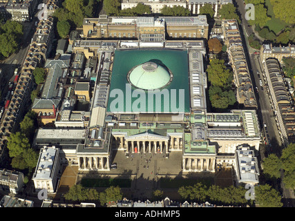 Aerial view of the British Museum in the Bloomsbury are of London - Stock Image