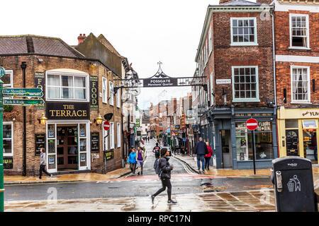 Fossgate York UK, Fossgate Merchants Quarter, Fossgate York City, Fossgate shopping York, York city shopping areas, Fossgate, shops, UK, York city, - Stock Image