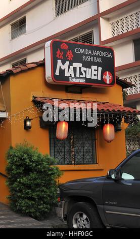 Matsuei restaurant sushi bar Comida Japonesa Panama city Panama - Stock Image