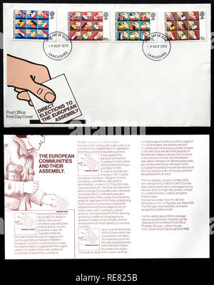 Direct elections to the European Assembly UK first day cover. - Stock Image