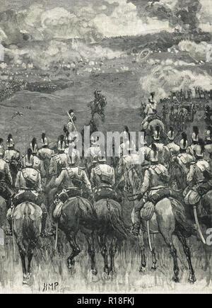 The Battle of Königgrätz, 3 July 1866 - Stock Image