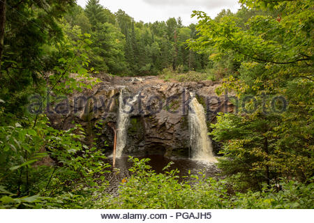 Little Manitou Falls, Black River, Pattison State Park, Wisconsin - Stock Image