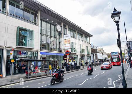 Parsons Green and Fulham London UK - Fulham Broadway Underground tube station - Stock Image